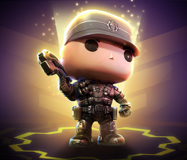 Gears POP! version of Hoffman stands at the ready