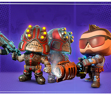 Gears POP! Spotters and Fahz Chutani stand against a comic styled backdrop